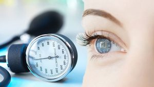 affect of high blood pressure on eyes