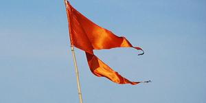 hoisting flag at home